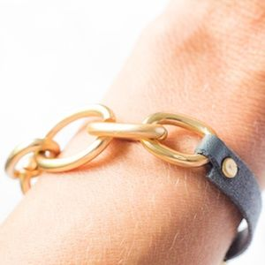 Jewelry - 🆑 Chained Linked Vegan Leather Bracelet